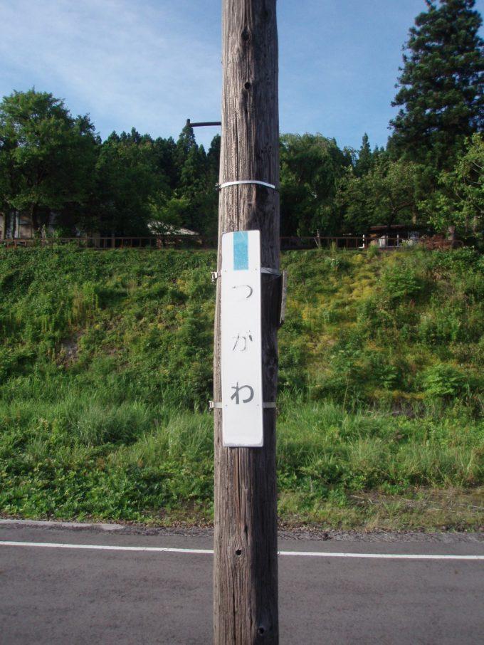 津川駅木の電柱