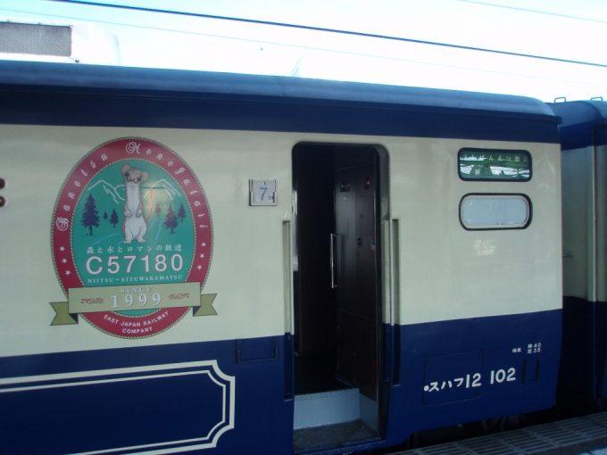 12系客車とオコジョ