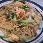 ツナとちんげんさいの中華風スパゲティー