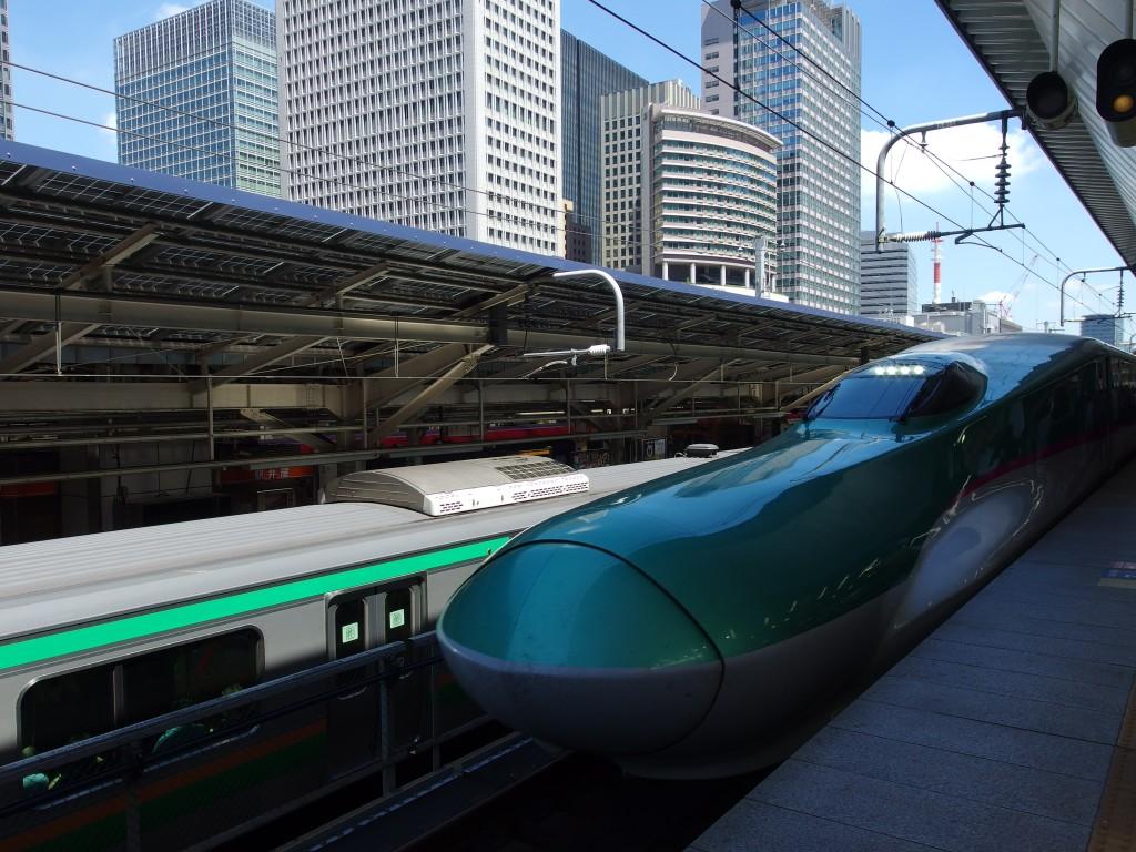 東京駅夏のはやぶさ