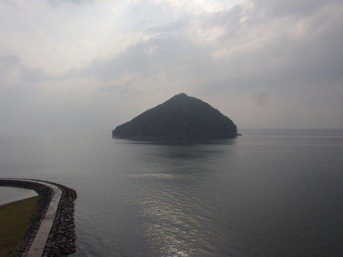 浅虫さくら観光ホテルからのオーシャンビューと湯の島