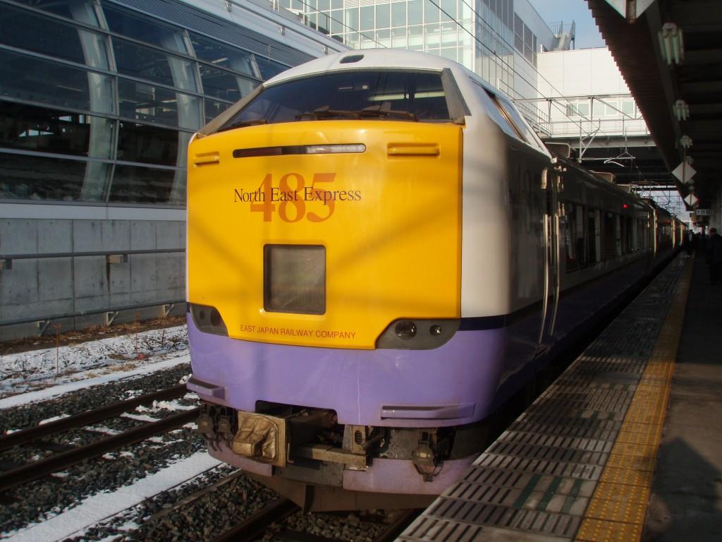 八戸駅485系白鳥