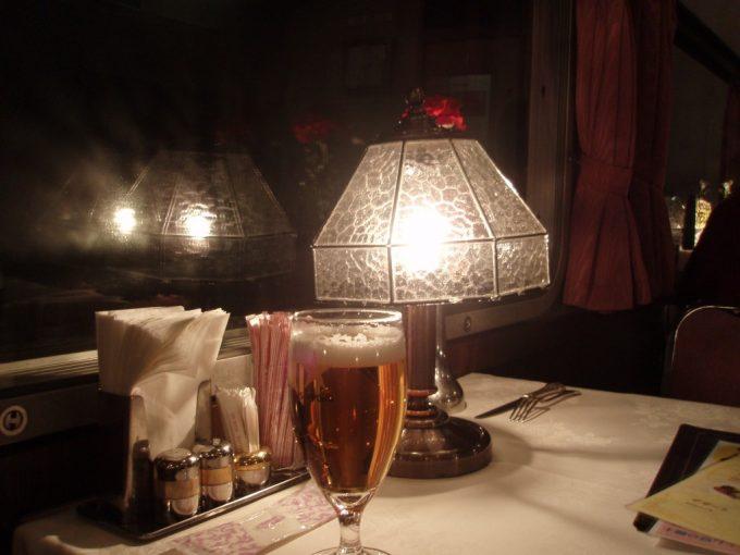 北斗星食堂車グランシャリオのランプシェード
