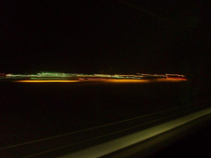 北斗星から眺める北海道最後の街灯り