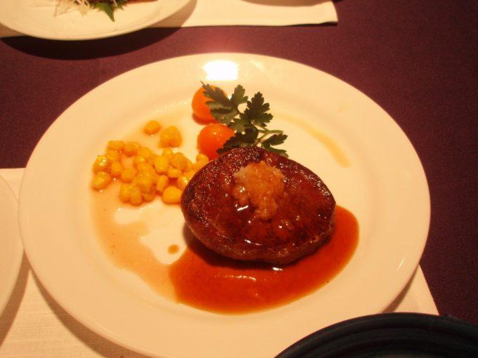 道産牛フィレ肉のステーキ