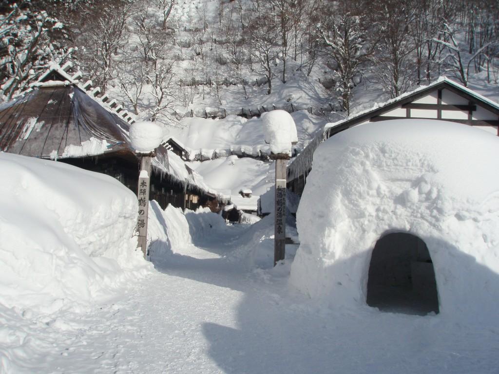 冬の鶴の湯大きなかまくら
