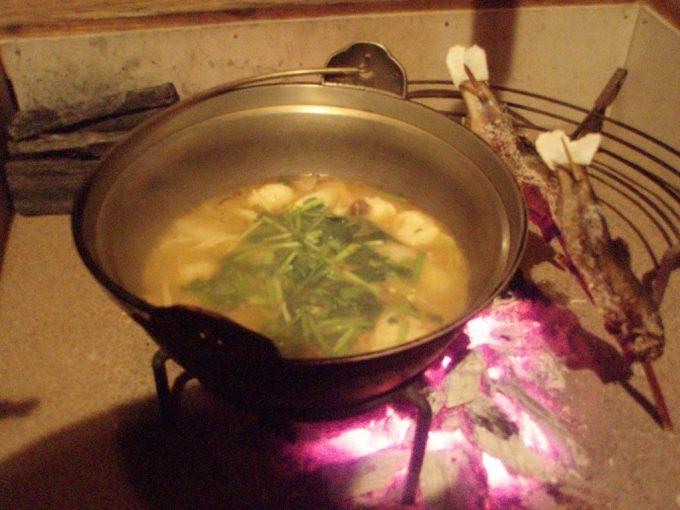 秘湯鶴の湯名物山の芋鍋