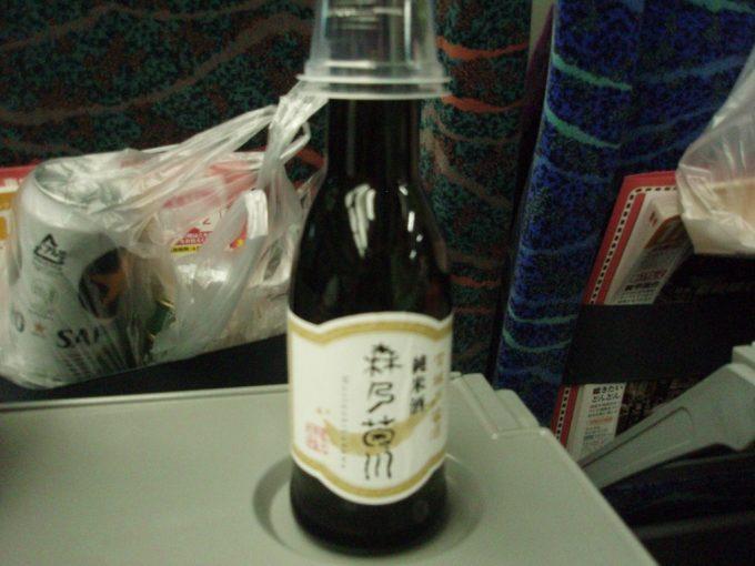 はやて車内で森乃菊川純米酒