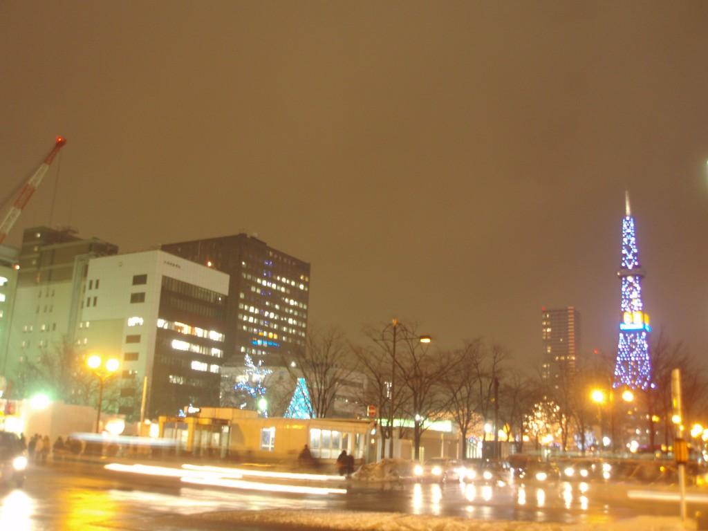 さっぽろ雪まつり期間中のテレビ塔