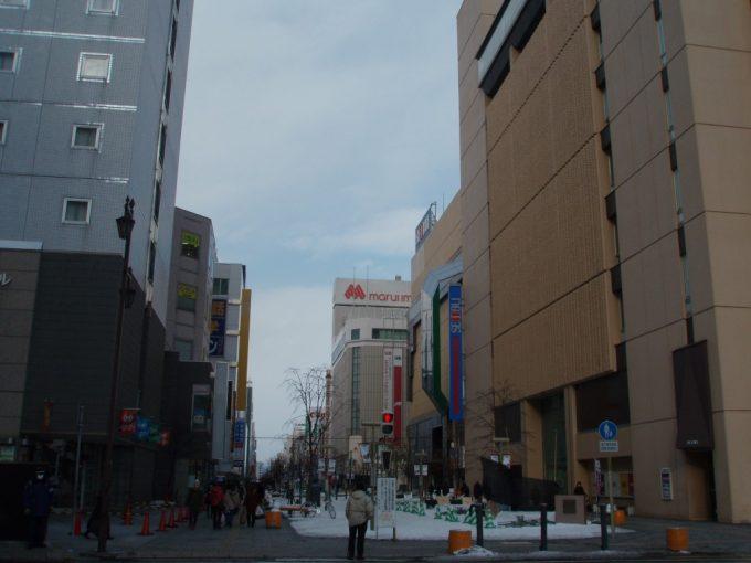 冬の旭川買物公園