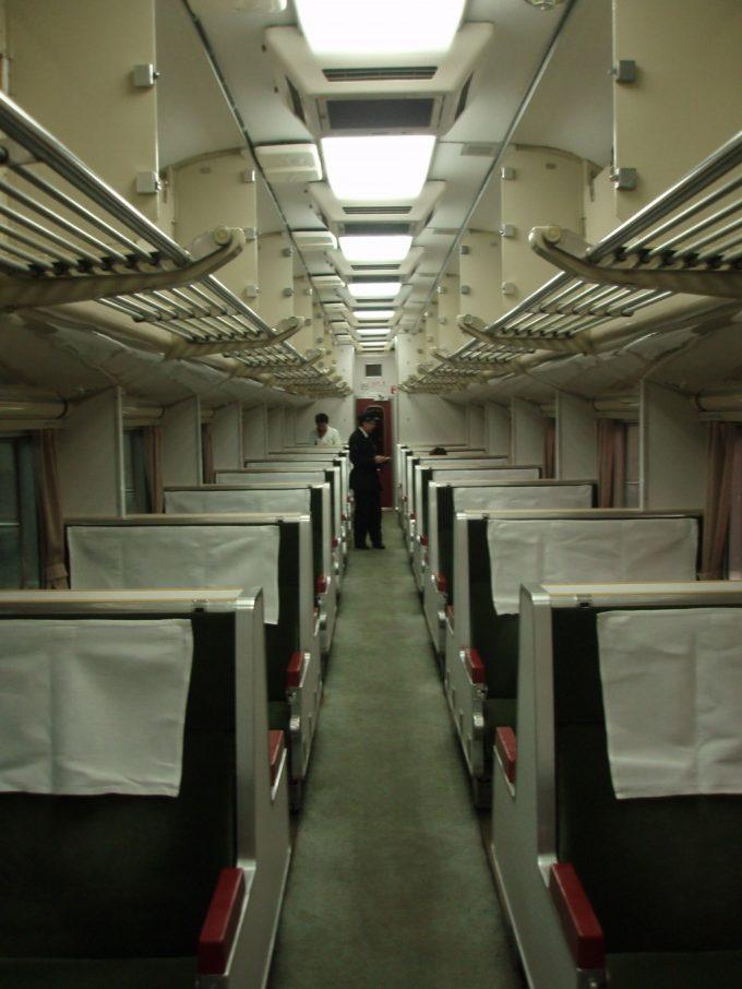 国鉄583系電車座席仕様車内