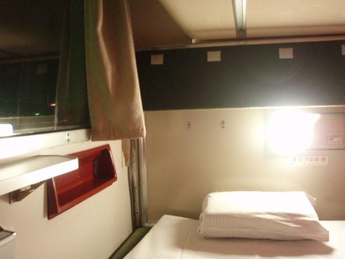 583系寝台電車三段式寝台下段
