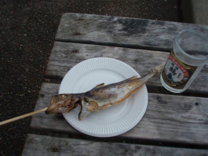 寺泊魚市場通のはたはた焼き
