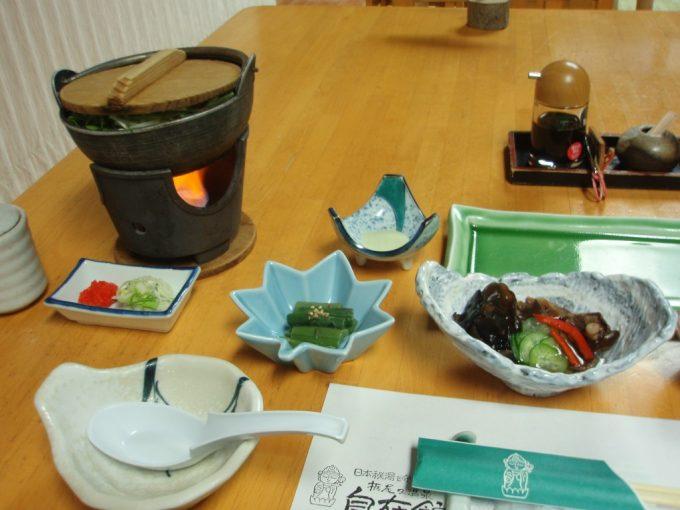 栃尾又温泉自在館夕食1