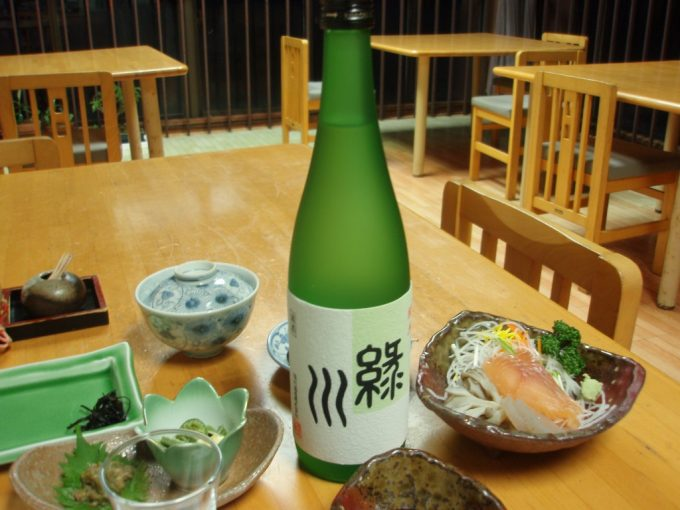 栃尾又温泉自在館で緑川純米酒を