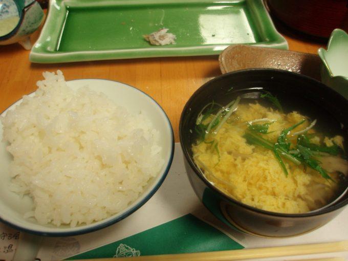 栃尾又温泉自在館ほかほかご飯とかき玉汁