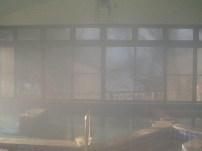 栃尾又温泉共同浴場上の湯近代的な造りの浴室
