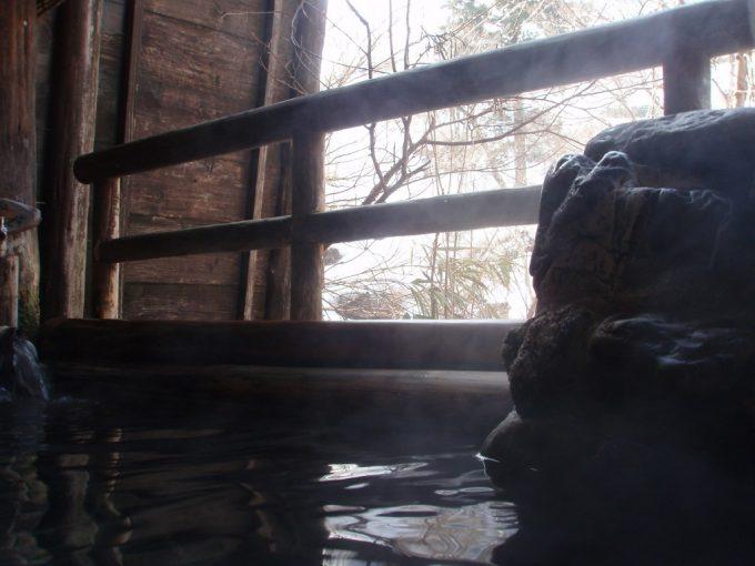 栃尾又温泉自在館朝の貸切露天風呂