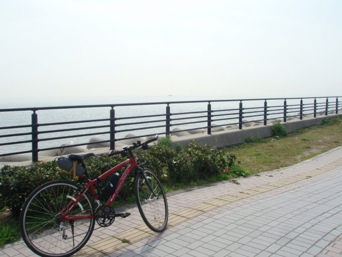淡路島海岸沿いの道