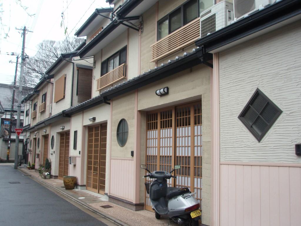祇園の家並み