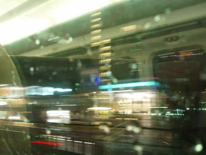 東海道新幹線車窓からの有楽町のネオン