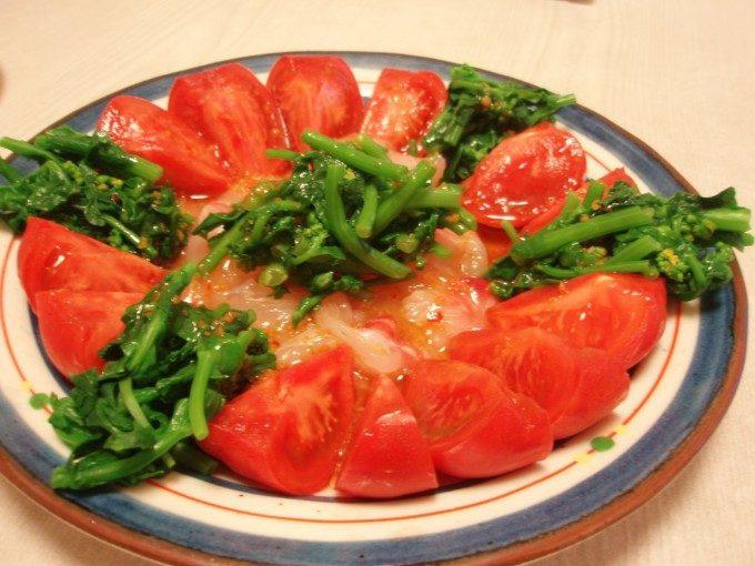菜の花と鯛の柚子こしょうカルパッチョ