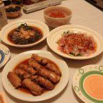 豚ごぼ巻きの山椒煮・鶏ごぼうご飯・鯛の韓国風カルパッチョ・きんぴらごぼう
