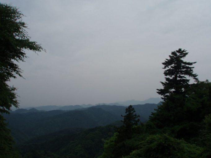 高尾山から望む多摩丘陵