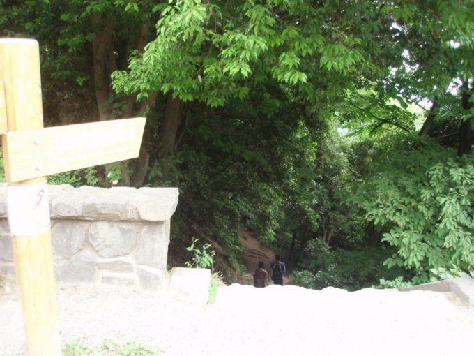 高尾山びわ滝方面へ
