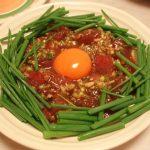 まぐろのユッケ・水菜の煮浸し・巻きまき冷しゃぶ