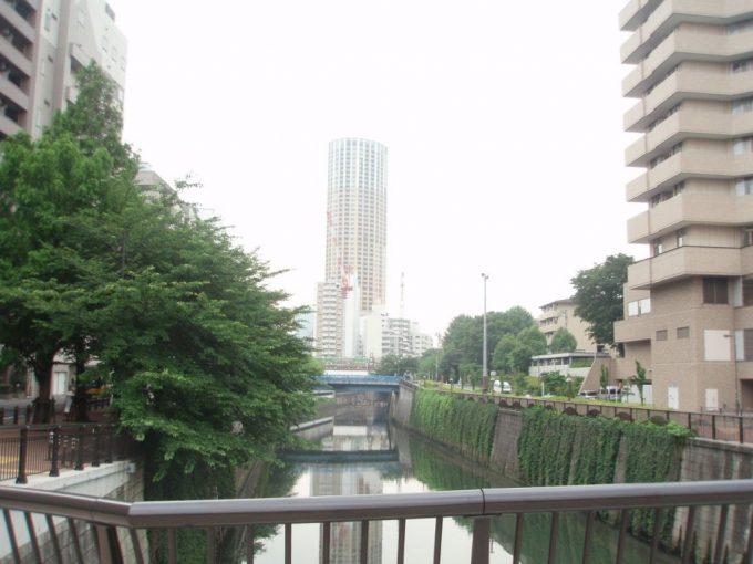 三面コンクリ張りの目黒川
