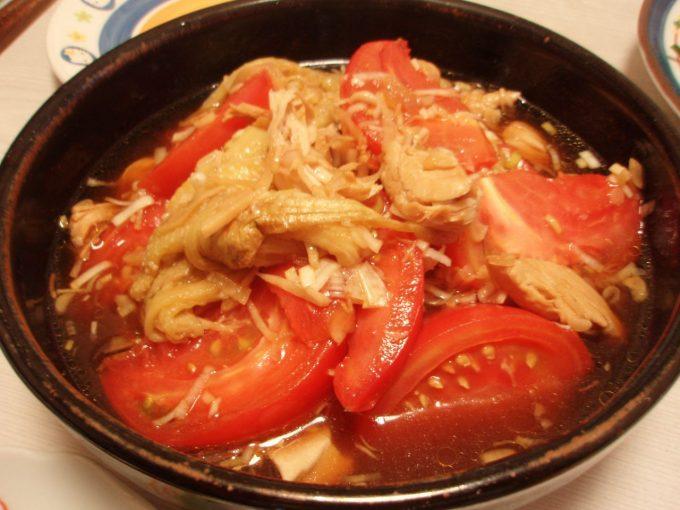 中華風冷やしなすトマト