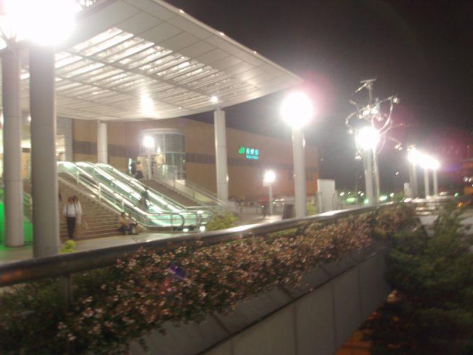 夜の長野駅に到着