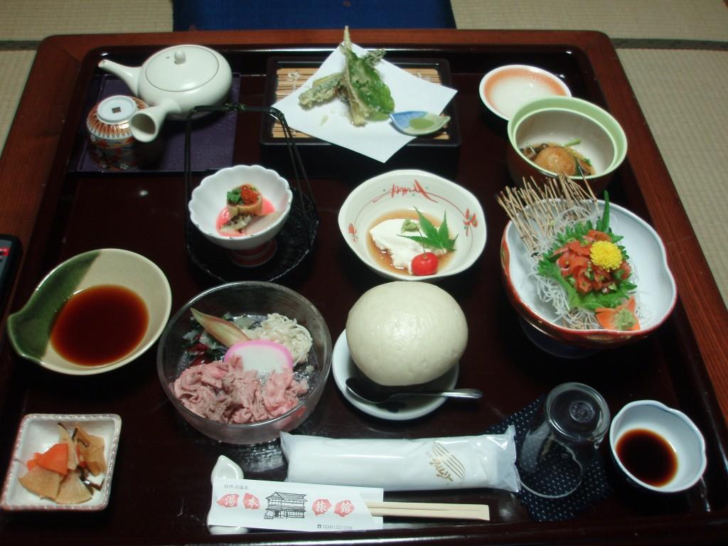 渋温泉湯本旅館夕食