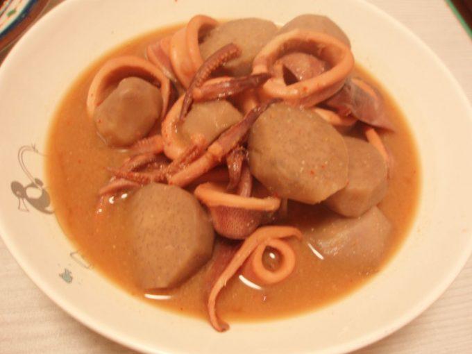 いかと里芋のピリ辛味噌煮