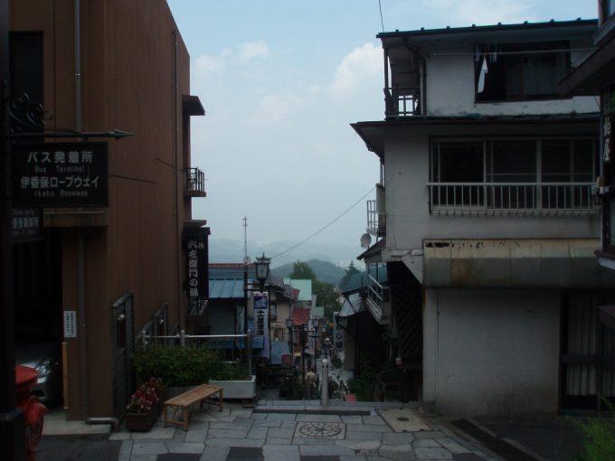 伊香保石段街頂上からの眺め