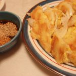 フレッシュとうきびと玉ねぎのチヂミ・アジアンいか刺し・花椒香るツナキャベ甘酢