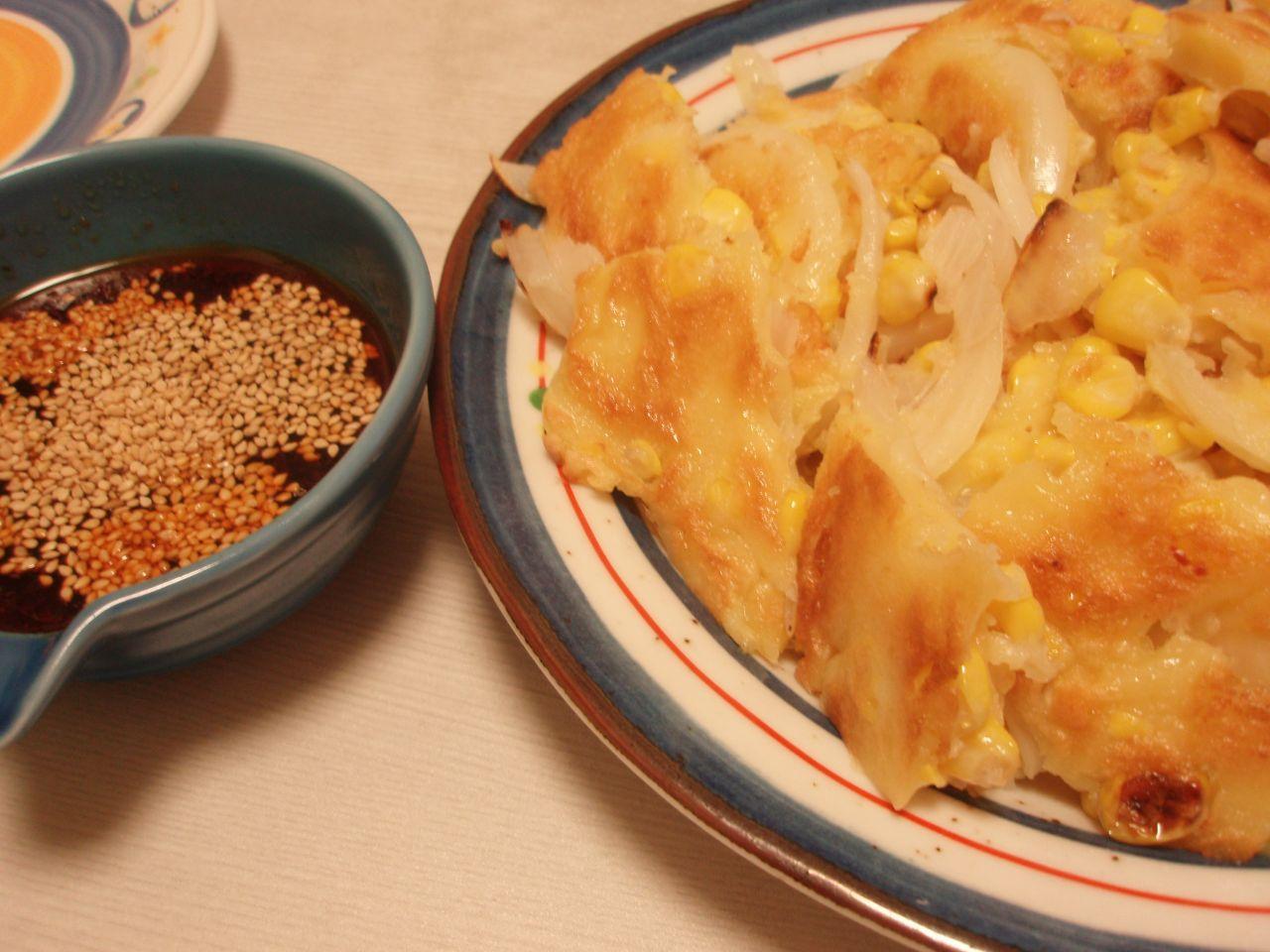 フレッシュとうきびと玉ねぎのチヂミ