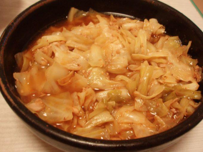 花椒香るツナキャベ甘酢