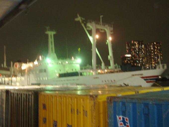 東海汽船さるびあ丸とコンテナ