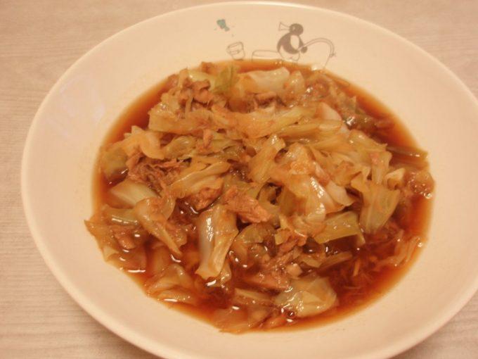キャベツとツナの炒め煮