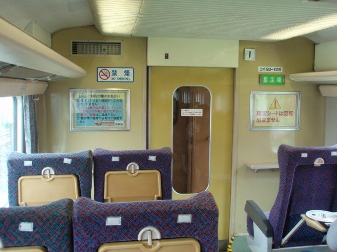 鉄道博物館183系旧グレードアップあずさ車内