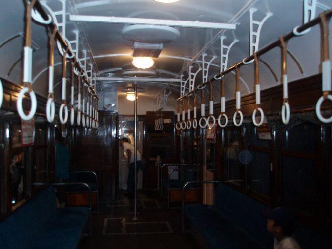 鉄道博物館旧型国電車内
