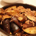 なすのひき肉炒め・きのこのみぞれ煮・簡単ゆで鶏のねぎ塩ソース