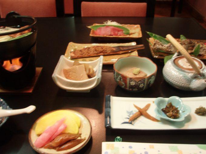 太郎温泉山宿観峰夕食