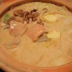 秋鮭のピリ辛豆乳石狩鍋