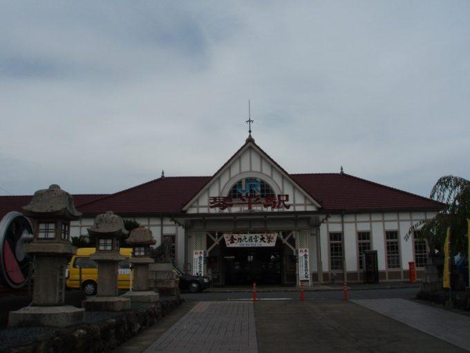 琴平駅と愛車