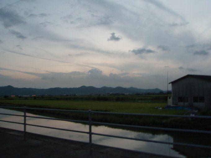 岡山の長閑な水田