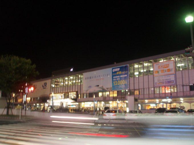 夜の岡山駅