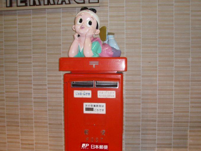 岡山駅前の桃太郎ポスト